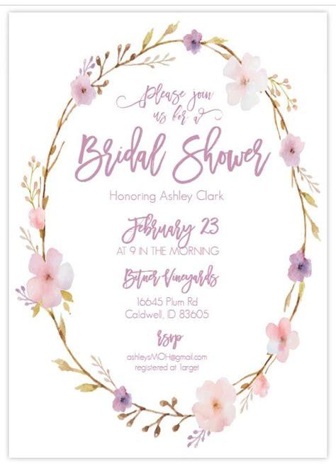 printable bridal shower invitations  style