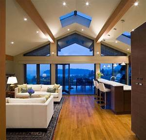 Admirable, Vaulted, Ceiling, Lighting, Ideas, Picture, For, Living, Room, Interior, Design