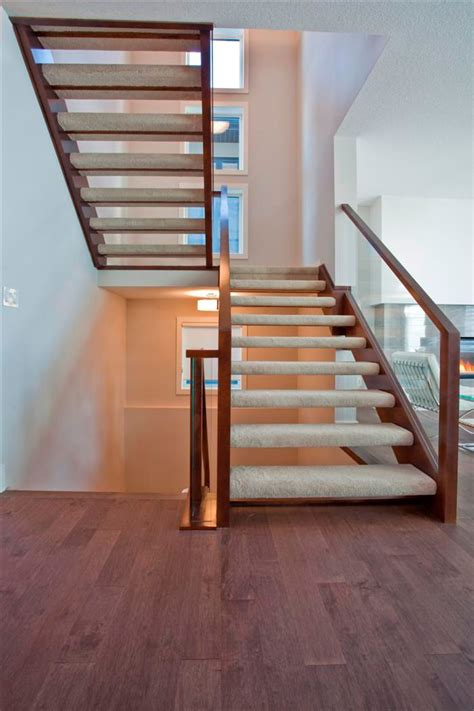 open risers artistic stairs  small bedroom remodel