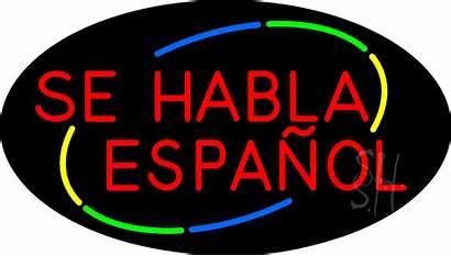 Espanol Habla Se Sign Neon Animated Signs