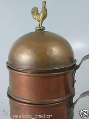 antique revere chic whistling egg cooker copper