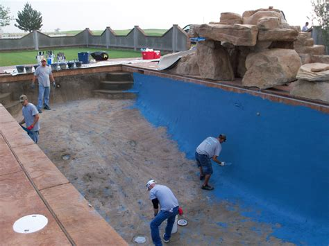 different pool finishes pool construction phases