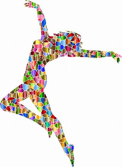 Dancing Silhouette Woman Dance Carefree Abstract Clipart