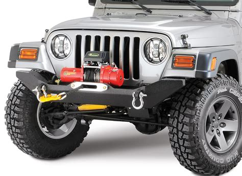 jeep winch bumper body armor tj 19531 4x4 front formed winch bumper for 87