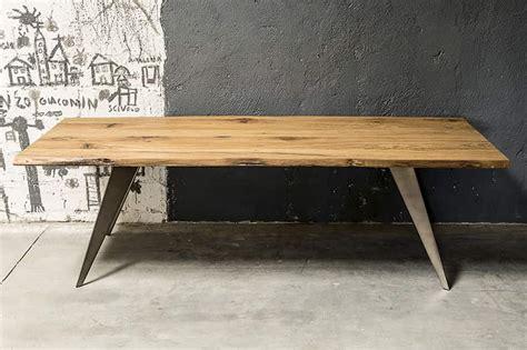 tavoli torino tavolo torino in rovere antico con telaio in ferro grezzo