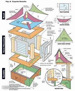 Today how to build a shed cupola haddi for Building a cupola