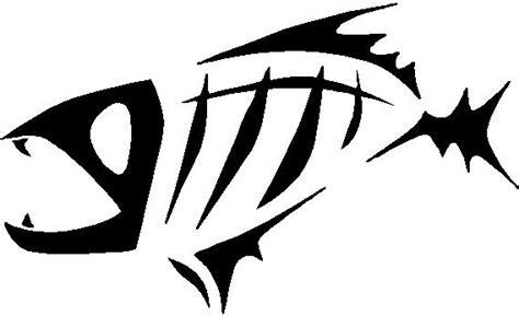 Surf Tattoo Designs piranha tribal fish skeleton decals  stickers 569 x 347 · jpeg