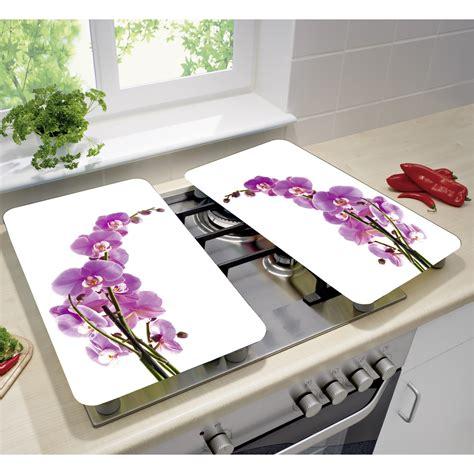 cuisine sauteuse set de 2 couvres plaques universels fleur d 39 orchidée