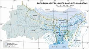 Maps of Bangladesh: Map Showing Brahmaputra, Ganges and ...