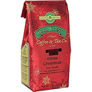 See how customers rate door county coffee & tea co. Amazon.com : Door County Coffee, Holiday Flavored Coffee, White Christmas Decaf, Vanilla Ice ...