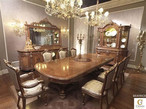Classic Luxury Dining Room, Solid Wood Table
