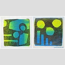 Gelli Arts Monoprinting Printmaking Lessons For Kids