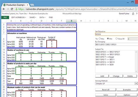 solve optimization models  excel  solver app