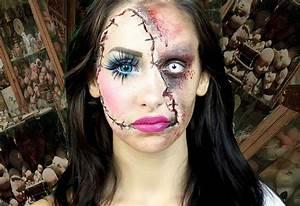 15 idées de maquillage Halloween mystère, horreur ou gore Design Feria