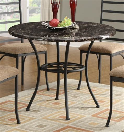 metal top dining table dining table w marble top and black metal base by 7819