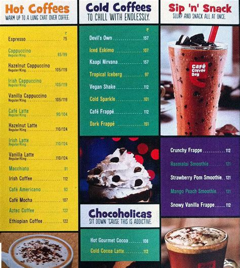 cafe coffee day carter road bandra mumbai menu