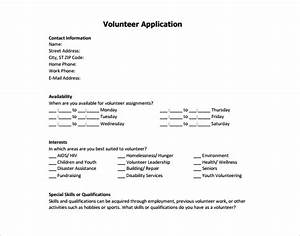 2 volunteer application form free premium templates With volunteer questionnaire template