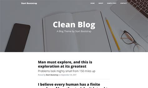 Clean Themes Clean Bootstrap Theme Start Bootstrap