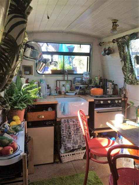 pin  carolyn meek  current obsession houseboat living narrowboat interiors canal boat