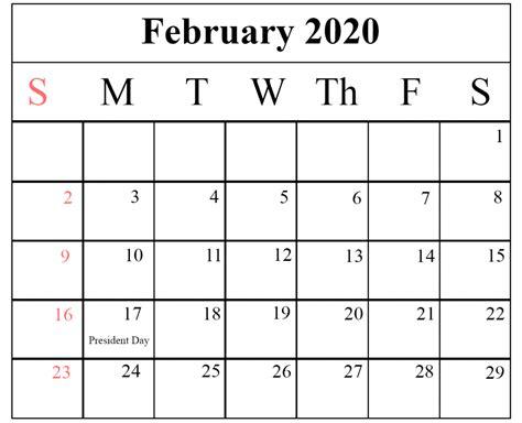 blank february calendar printable template word excel
