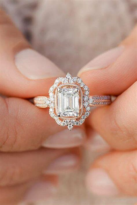 33 Rose Gold Engagement Rings That Melt Your Heart