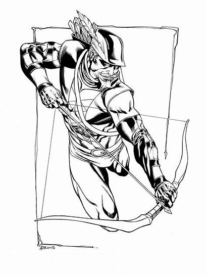 Arrow Coloring Pages Dc Characters Jla Canary