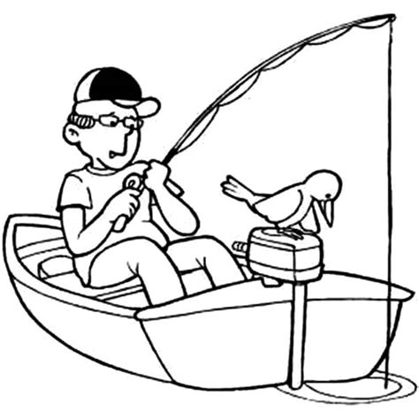 Coloring Pages Of A Fishing Boat by Fishing Boat Coloring Page Www Pixshark Images