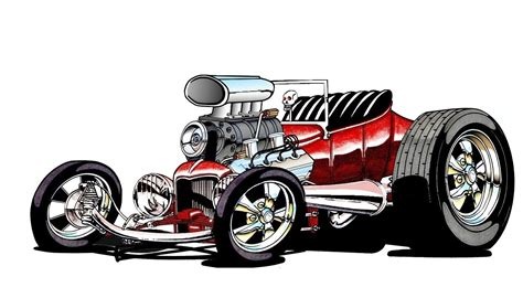 cartoon hot rod   cartoon