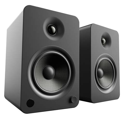 powered bookshelf speakers kanto yu6 powered bookshelf speakers matte black yu6mb