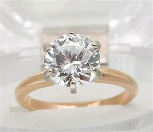 200ct vs genuine moissanite solitaire solid 14k gold With sparkly wedding rings