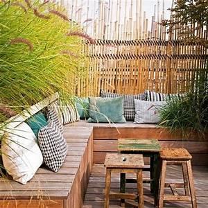 Banquette Bois Exterieur : terrasse bois avec banquette terrasse balcon terrace and balcony pinterest terrasse ~ Farleysfitness.com Idées de Décoration