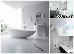 La salle de bains blanche design en 75 idees for Salle de bain design blanche