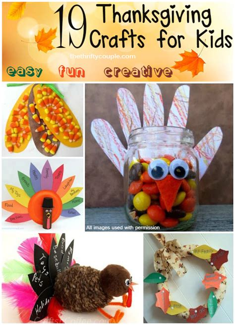 19 thanksgiving craft ideas for that are