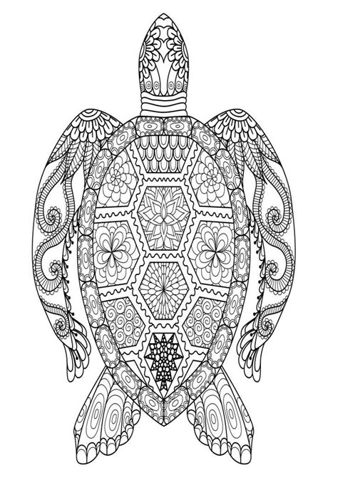 mindfulness coloring page turtle   turtle coloring pages mandala coloring pages