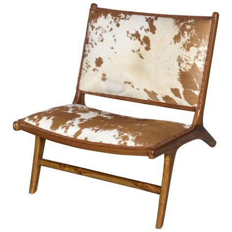 Cowhide Seat by Quot The Hton Quot Chair In Handmade Teak And Cowhide At 1stdibs