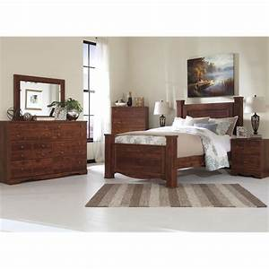 ashley brittberg 5 piece queen poster bedroom set in With ashley furniture 5 pc bedroom sets