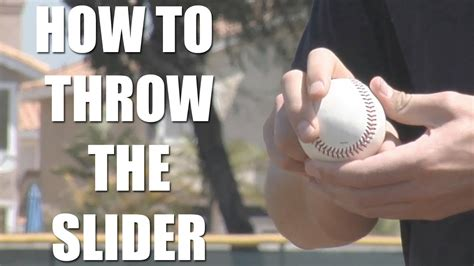 Pitching Tips How To Throw The Slider With Garrett