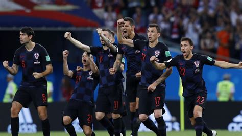 Fifa World Cup Croatia Beat Russia Penalties Set