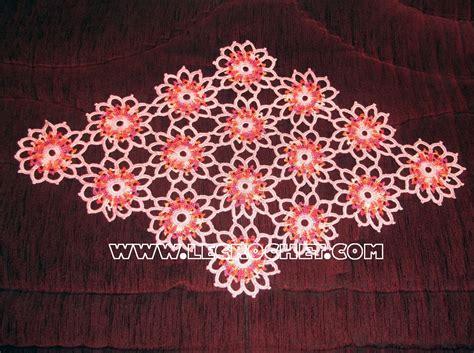 napperon ovale napperon au crochet le crochet napperon crochet