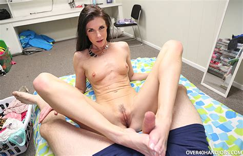 India Summer Foot Fucks Her Step Son And Makes Him Cum