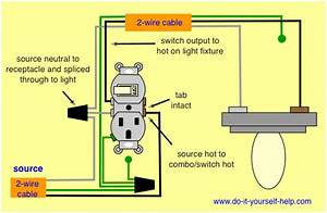 Wiring Diagram For A Light Switch Receptacle Combo