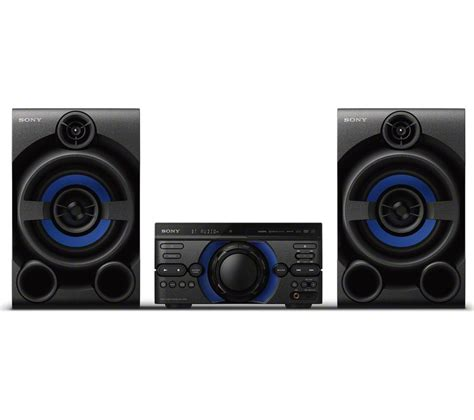 buy sony mhc m20d bluetooth traditional hi fi system black free delivery currys