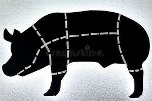 Pig Cutting Chart Stock Vector  Illustration Of Pink