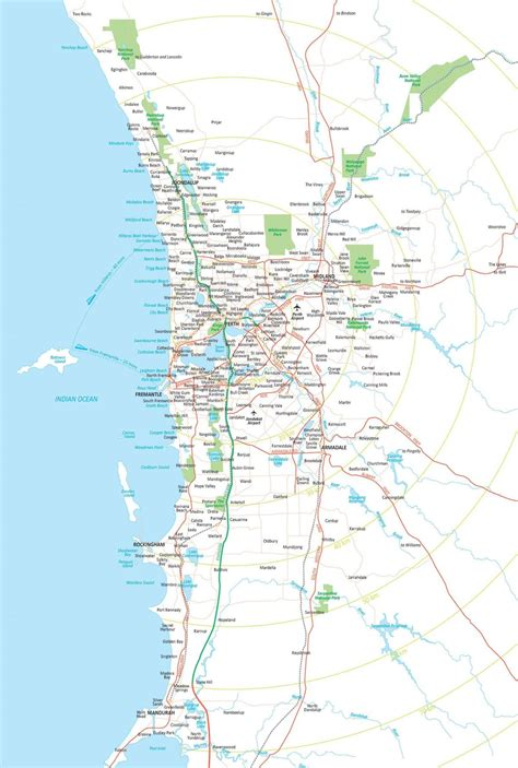 perth map suburbs map  perth suburbs australia