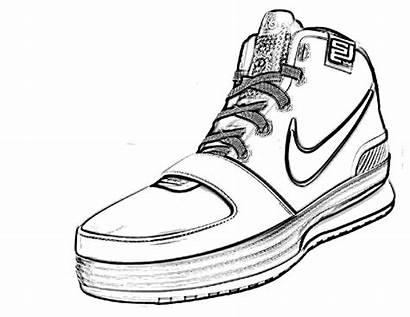 Nike Coloring Shoes Pages Kd Shoe Drawing