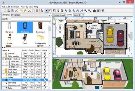 3d Möbel Kostenlos by Sweet Home 3d Freeware De
