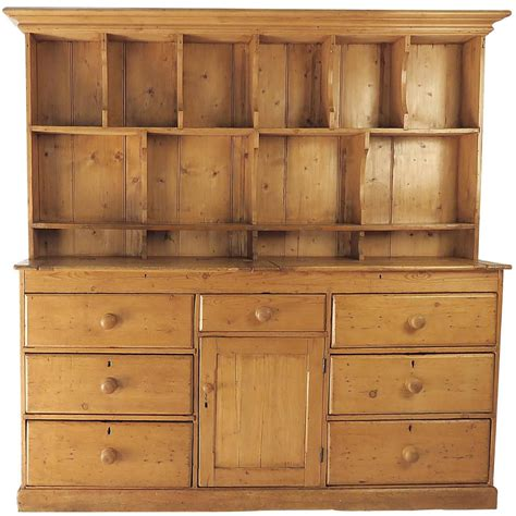 rustic irish pine dresser  plate rack pine dresser furniture vintage cupboard