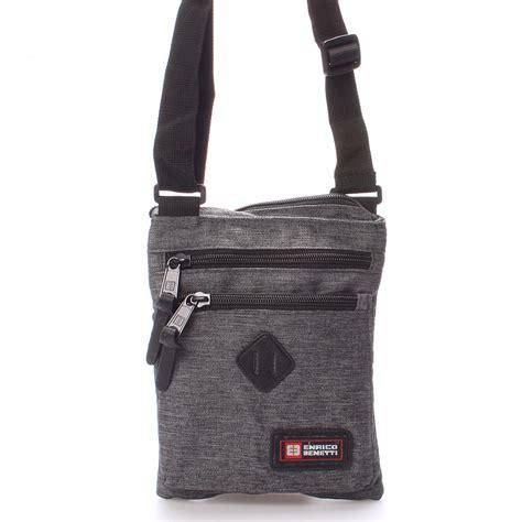 látková taška přes rameno šedá enrico benetti 4499