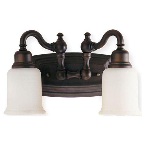 bronze vanity light feiss canterbury 2 light rubbed bronze vanity light
