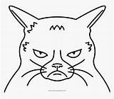 Cat Coloring Grumpy Pages Pngitem sketch template